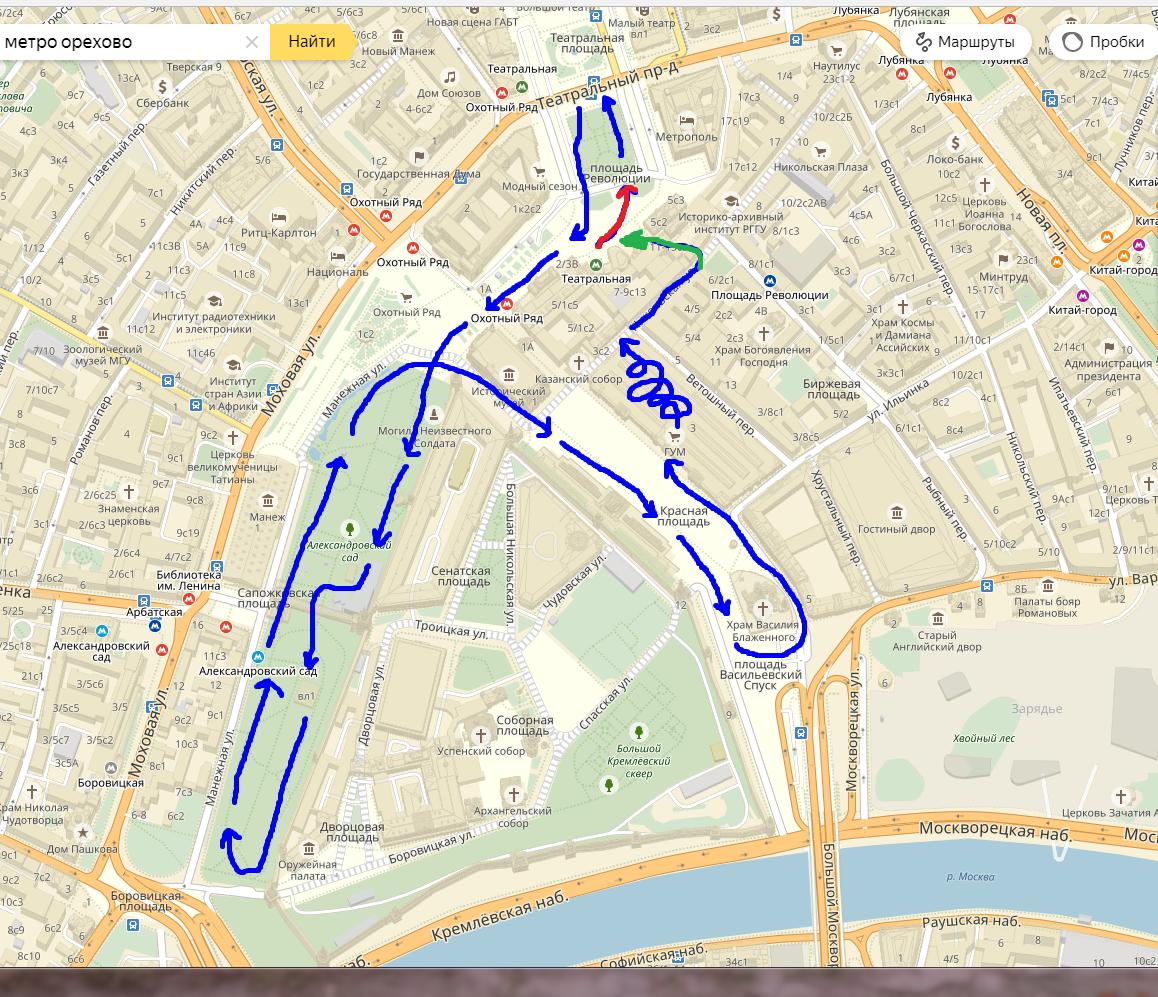 расстояние от киевского шоссе до красной площади