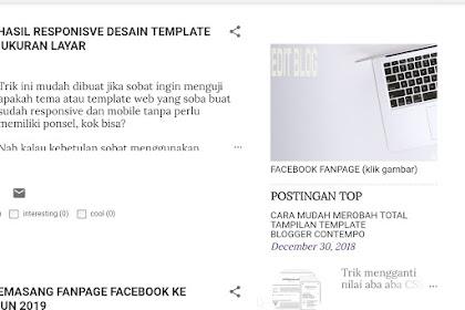 Cara mengatur tampilan popular posts dan pagelist template contempo