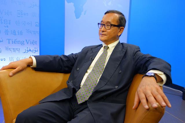 Sam Rainsy. Photographie RFA