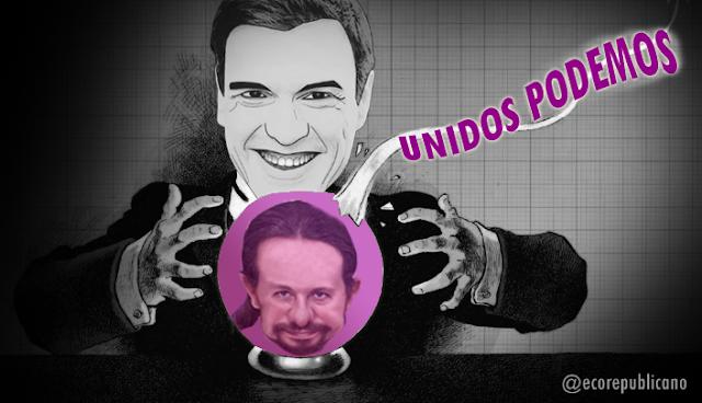 """Pedro Sánchez: """"Pablo Iglesias no va a ser presidente del Gobierno""""."""