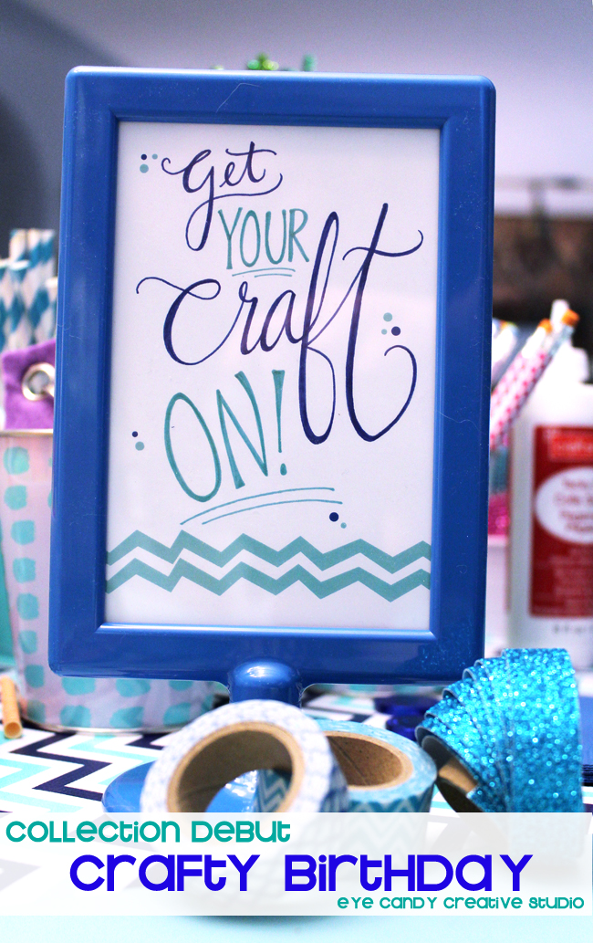 crafty birthday party, craft party collection, chevron, tween birthday idea