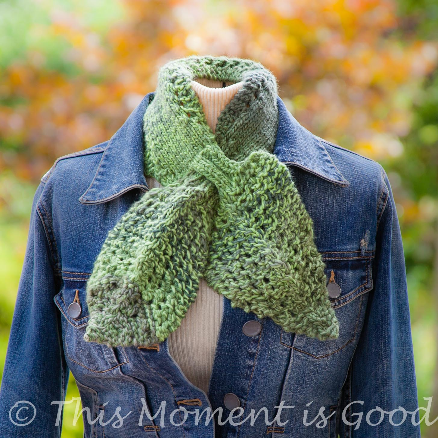 LOOM KNIT LEAVES AND LACE ASCOT/SCARFLET PATTERN | Loom Knitting by ...
