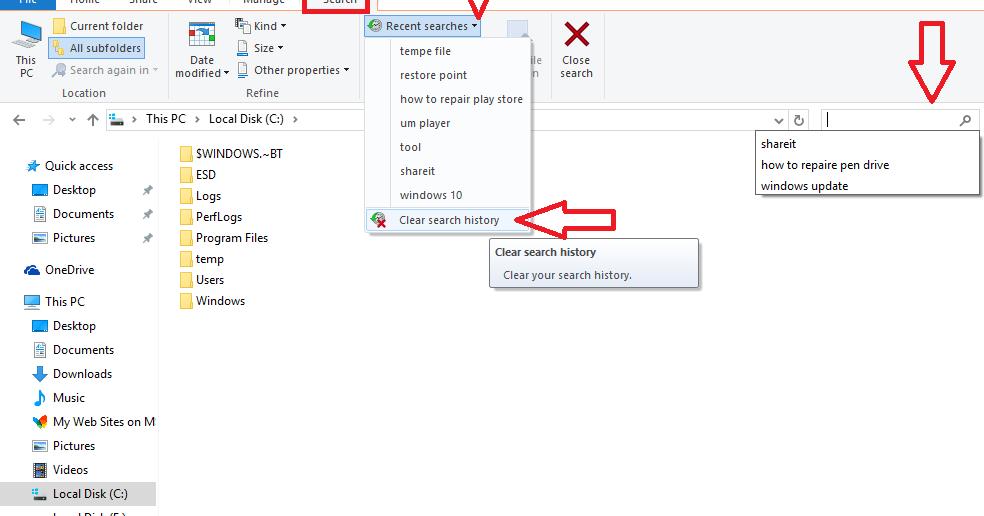 how to delete stuff on windows 10