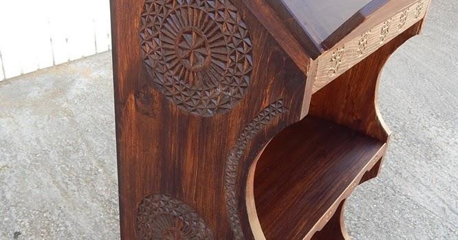Artesan a tope y cu a atril de pie para libros madera de casta o y decoraci n en talla - Atril decoracion ...