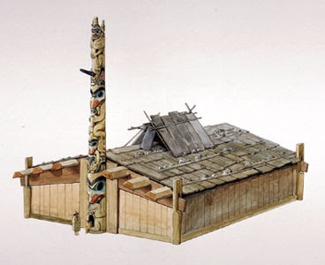haidahouseartwork+by+Gordon+J.+Miller Plank House Native American Artwork on