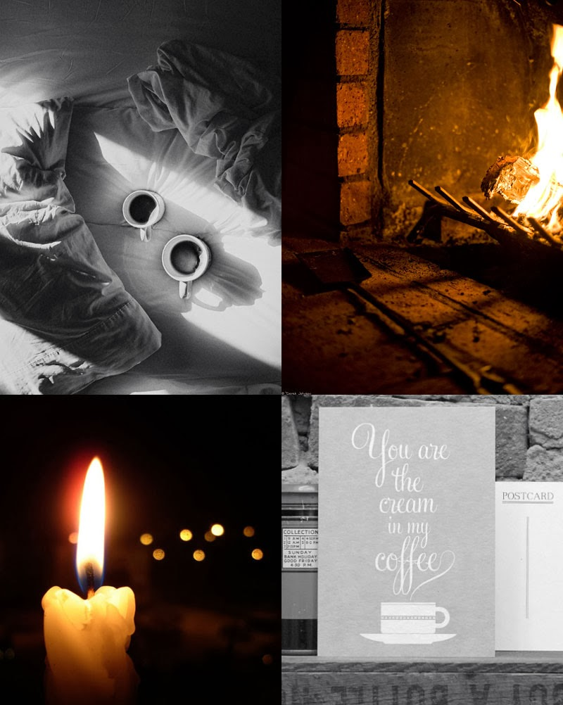 Breakfast in bed, open fire, love note, candlelight | Oyster & Pearl blog