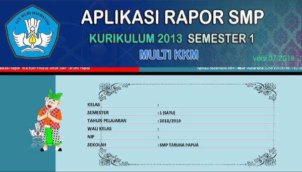 Aplikasi Rapor SMP Terbaru
