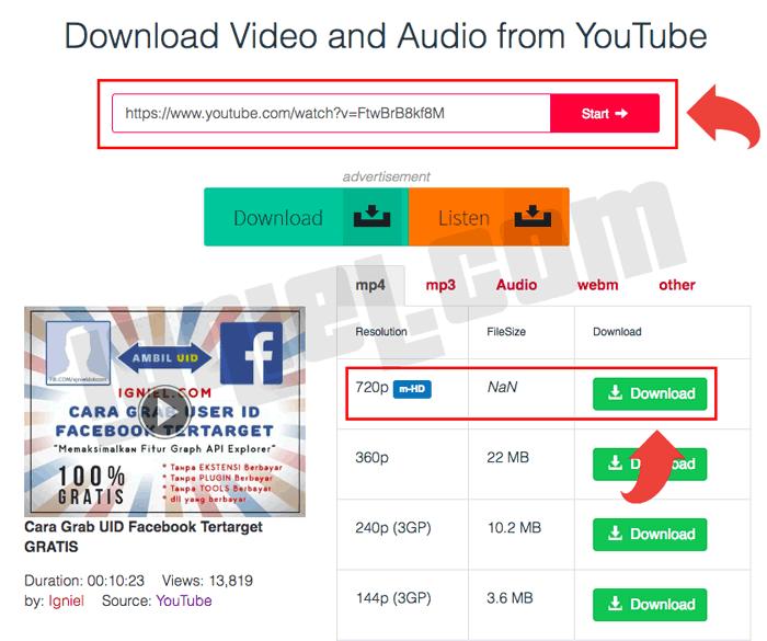 Cara Download Youtube Agar Tersimpan Di Galeri