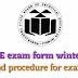 Msbte exam form winter 2018