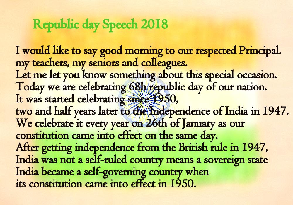 a speech in english