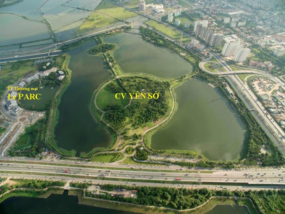 Không gian công viên Yên Sở trong quá trình xây dựng