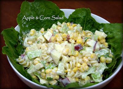 Apple Corn Pasta salad