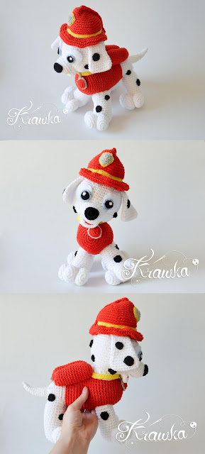 Krawka: Marshall dalmatian from Paw patrol puppy crochet pattern by Krawka https://www.etsy.com/listing/632345606/crochet-pattern-no-1811-dalmatian-dog?ref=shop_home_feat_1