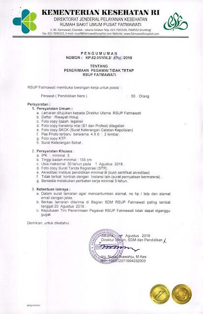 Penerimaan Pegawai Tidak Tetap RSUP Fatmawati