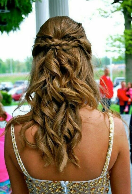 Crown bride hairstyle