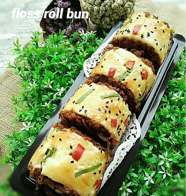 Roti Gulung Abon Breadtalk ( Floss Roll Bun)