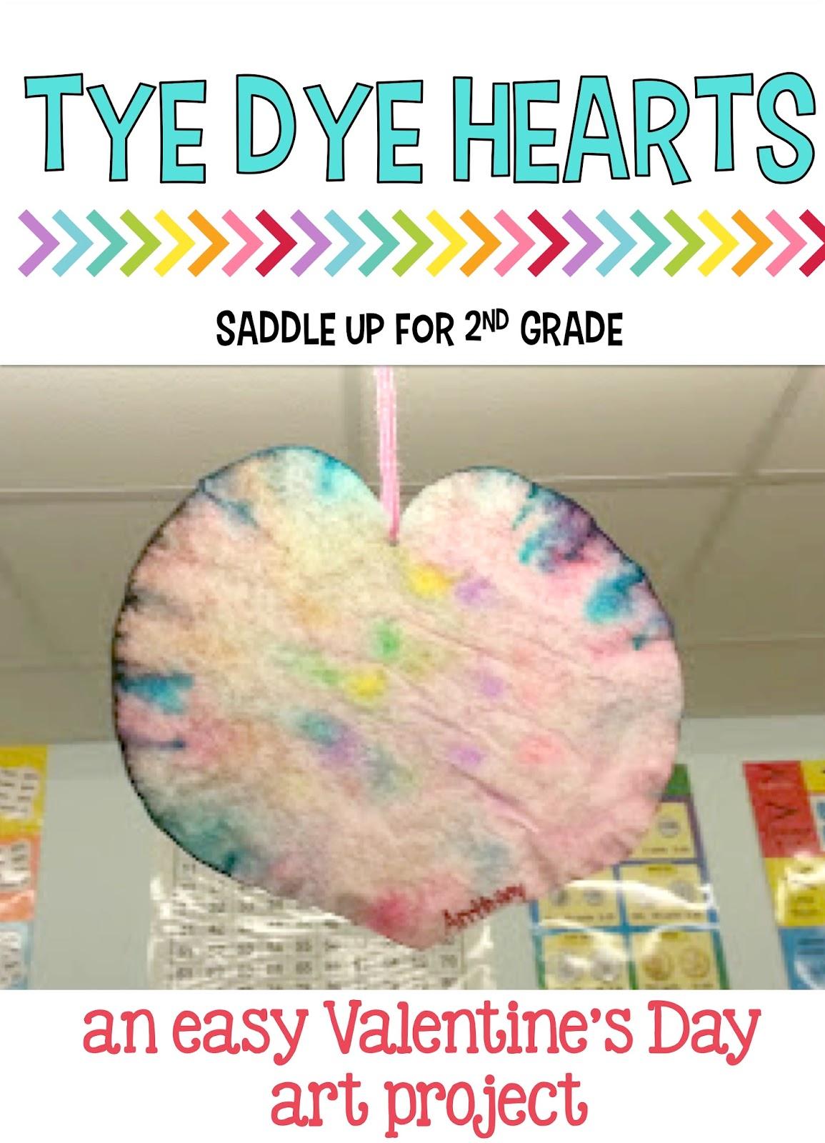 Tye Dye Hearts An Easy Valentine S Day Art Project