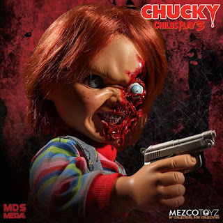 Mezco Designer Series Child's Play 3 Talking Pizza Face Chucky