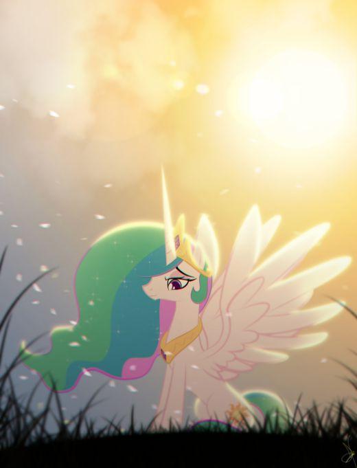 Princess Celestia - On a fresh and windy Dawn