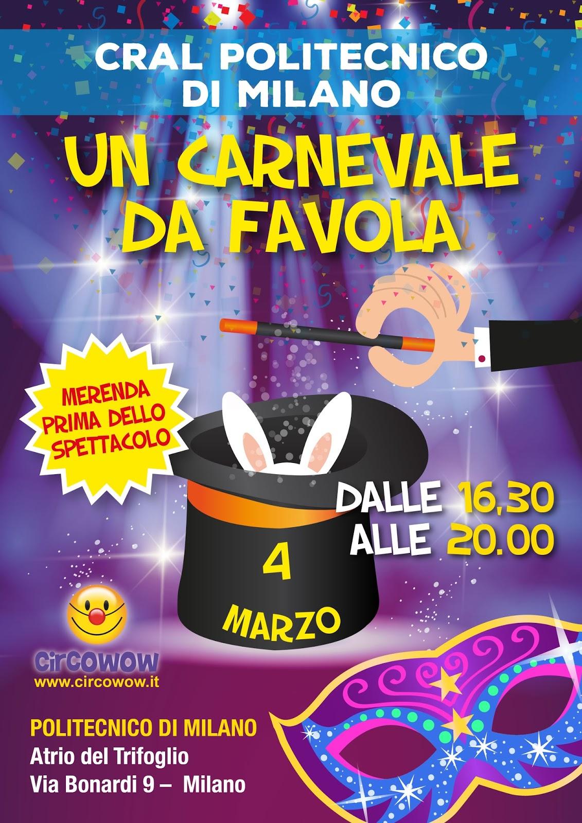 Cral polimi festa di carnevale for Politecnico milano iscrizione