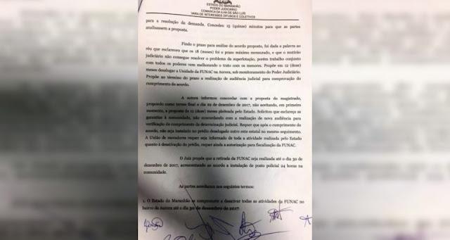 Acordo judicial assegura retirada da unidade do bairro da Aurora