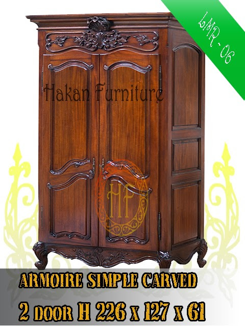 Armoire simple carved 2 door H226x127x61