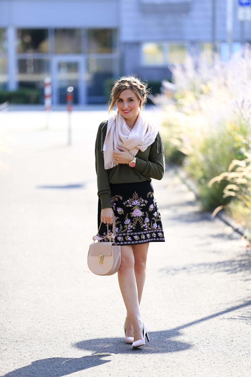 Oasis Rock - Zara Schuhe - Rosa Pumps - Rosa High Heels - Wildlederschuhe - Rosa Schuhe kombinieren - Chloe Tasche Blogger - Blogger aus Deutschland