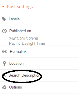 How To Add Search Description To Individual Post In Blogger