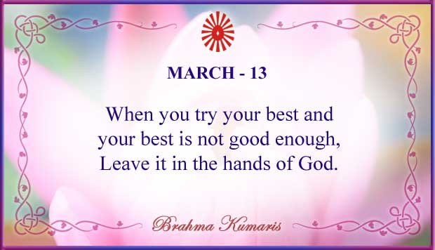 Thought For The Day March 13