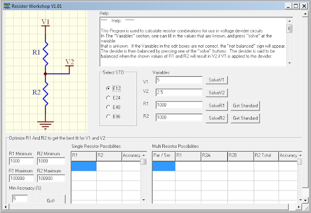 Screenshot Resistor Calculator