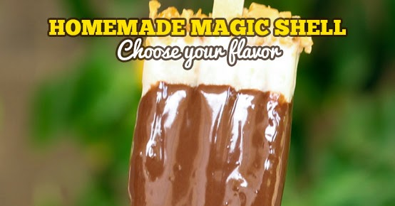 Copycat Homemade Magic Shell - Only 2 Ingredients