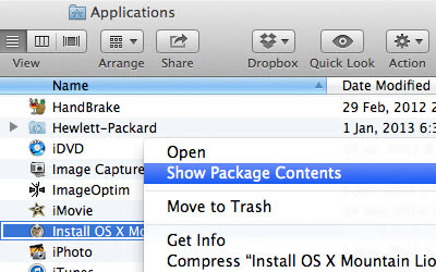 Create bootable OS X Mountain Lion manually