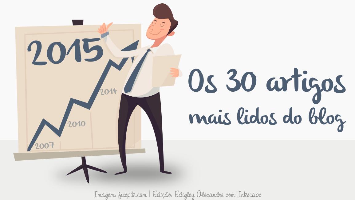 Os 50 artigos mais lidos no blog em 2015