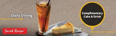Free Secret Recipe Cake & Iced Lemon Tea Maybank Cards Promo