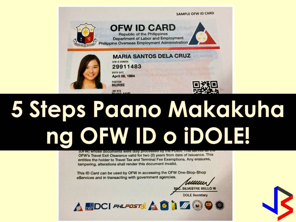 The OFW or iDOLE is now for grabs for Overseas Filipino Workers (OFW) for a hassle-free transaction in the country.  But before an OFW can get his or her much-awaited OFW ID, he or she should apply first. For those who already applied, good for you. But for those who are asking what is the process, this article is for you! The application is free and hopefully always will be!