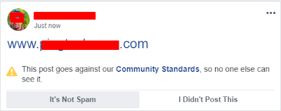 website link sharing problem with facebook