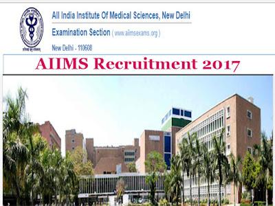 Delhi AIIMS Requirement 2017