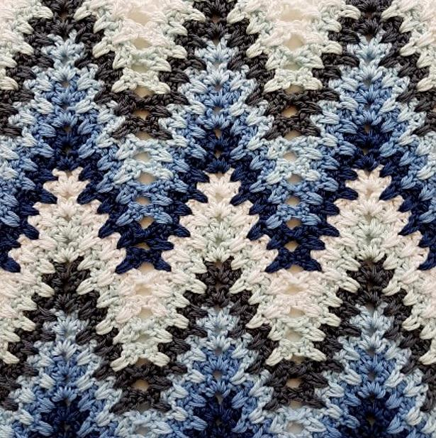 Crochet Stitches Free Patterns - Heartbeat Ripple crochet Stitch