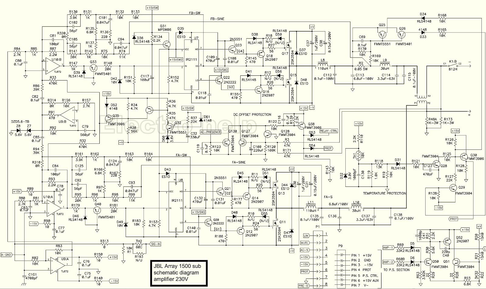 Electro Help  Jbl 1500 Array Schematic