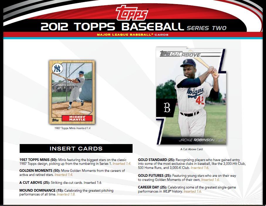 Bdj610s Topps Baseball Card Blog 2012 Topps Series 2 Sell Sheets