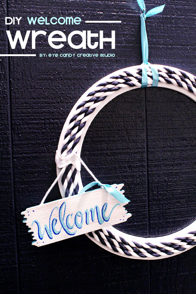 nautical wreath, how to make a wreath, front door decor, door wreath