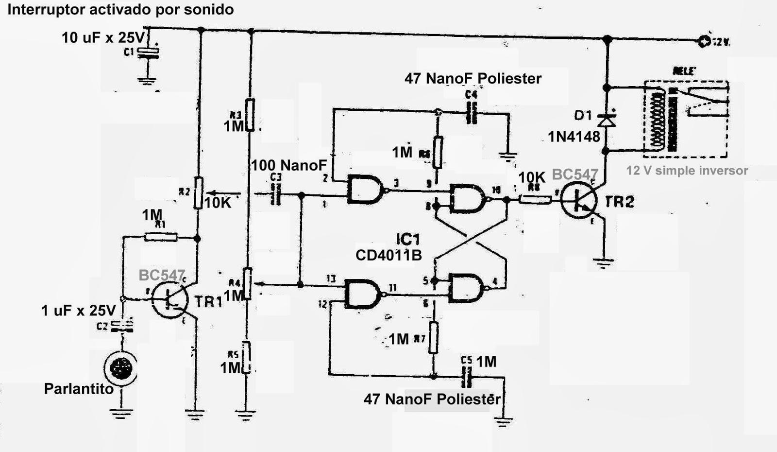 Circuito Amplificador Con Integrado Tda El Circuito