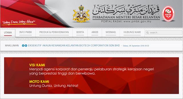 Rasmi - Jawatan Kosong (PMBK) Perbadanan Menteri Besar Kelantan Terkini 2019