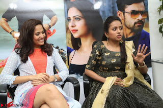Actress Suma in Black Salwar Suit and Anusuya in orange Dress at winner movie press meet part 2 February 2017 (17).JPG