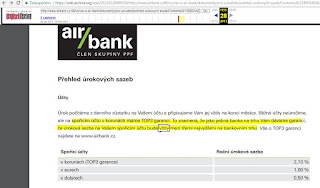 Popis TOP3 garance v Přehledu úrokových sazeb
