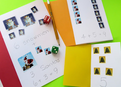 Math fun with tiny notebooks, from Paula's Preschool and Kindergarten