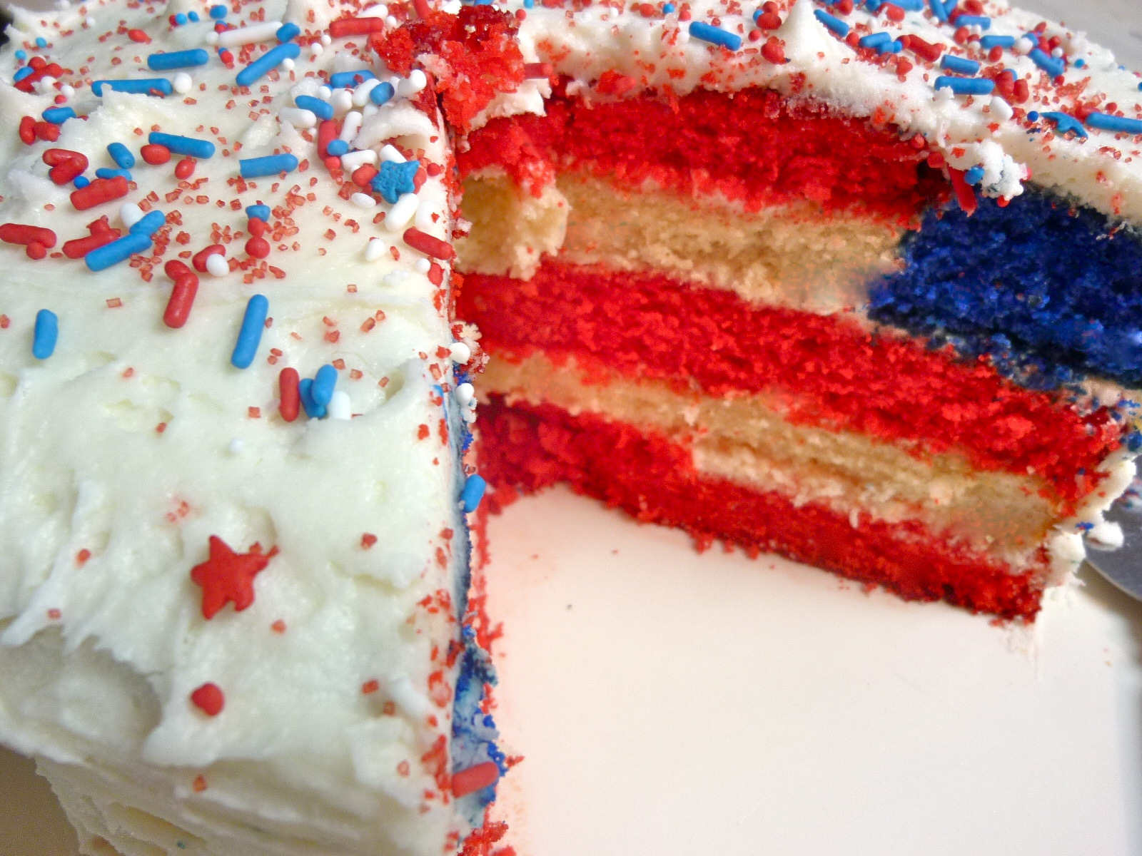 e0bbedef3f7 US Flag Cake   Cupcakes and Back to America – Diary of a Mad Hausfrau