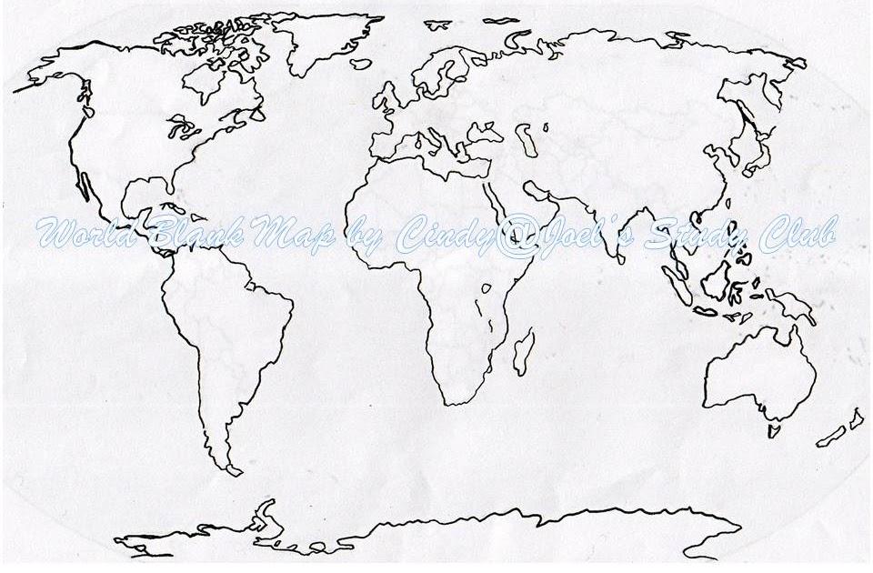Peta Dunia Hitam Putih Ukuran Besar Berbagai Ukuran