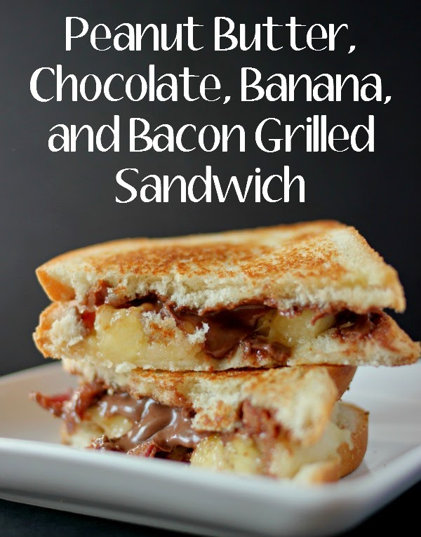 Peanut Butter, Chocolate, Banana and Bacon Grilled Sandwich #AnySnackPerfect #Shop