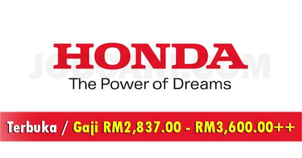 Jawatan Kosong di Honda Malaysia